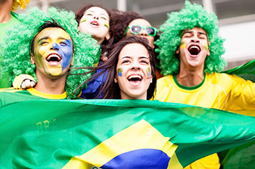 Image of Brazilian supporters