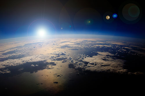 Image of sunrise over the Earth