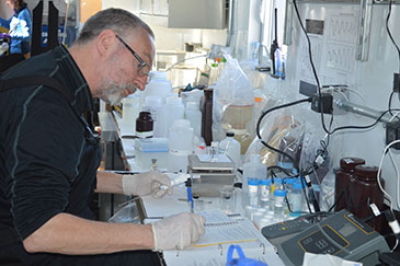 Image of Professor Martyn Tranter at work on the WISSARD project