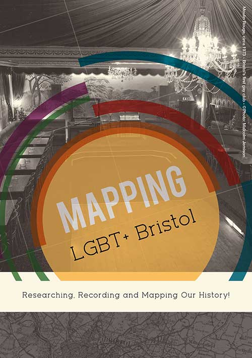 Image of detail of the cover of the Mapping LGBT+ leaflet