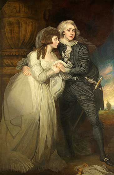 Anne Brunton and Joseph Holman as Romeo and Juliet, by Mather Brown (1761-1831)