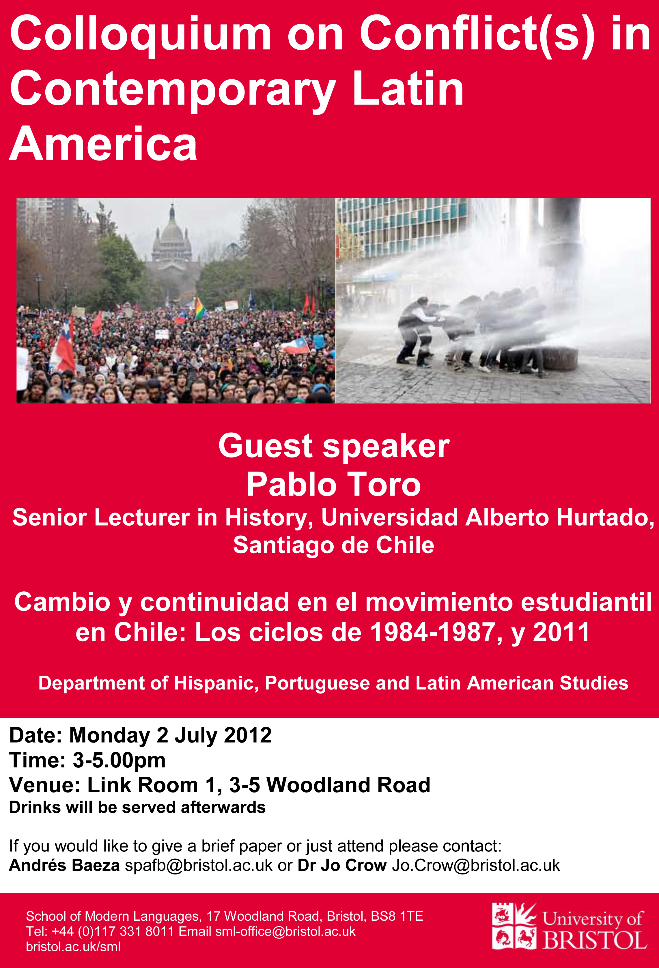 Colloquium on Conflict(s) in Contemporary Latin America