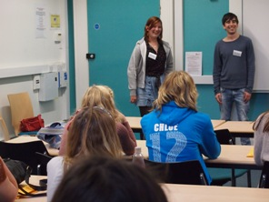 Talk given by student ambassadors on studying modern languages